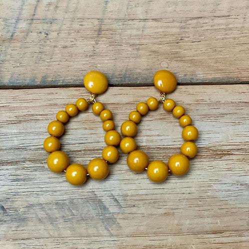 Boucles d'Oreilles VINTA – moutarde