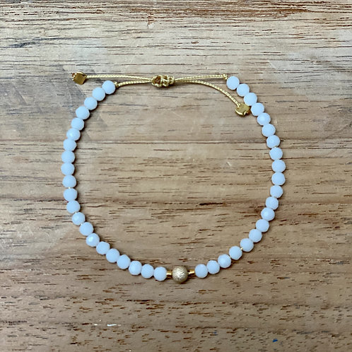 Bracelet perles fines – ivoire et or