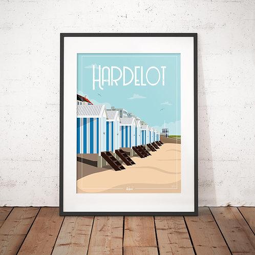 Affiche Wim' Hardelot Cabines 30x40 cm
