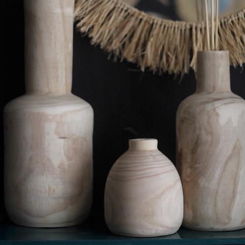 Vase Aya bois 15 x 21 cm
