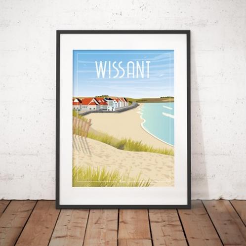 Affiche Wim' Wissant Plage 30x40 cm
