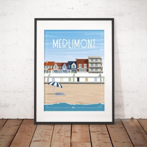 Affiche Wim' Merlimont 30x40 cm