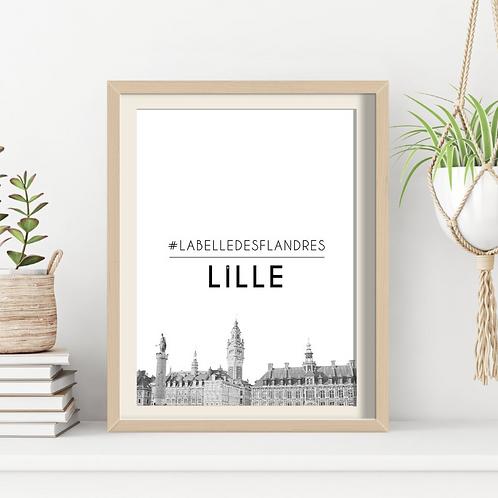 Affiche Sacrée Lilloise Belle des Flandres 30x40 cm