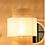 Thumbnail: Abat-jour pour suspension Solaire cannage/blanc (D.30xH.35cm)