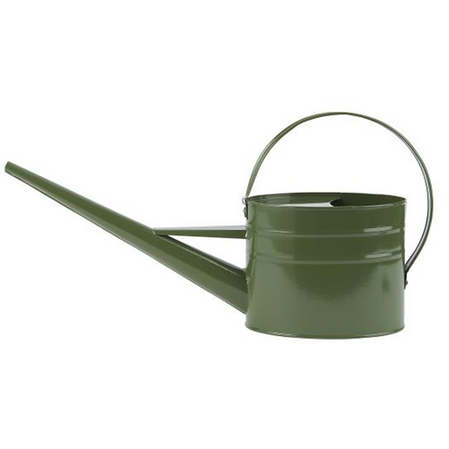 Arrosoir métallique kaki 1,4 litres