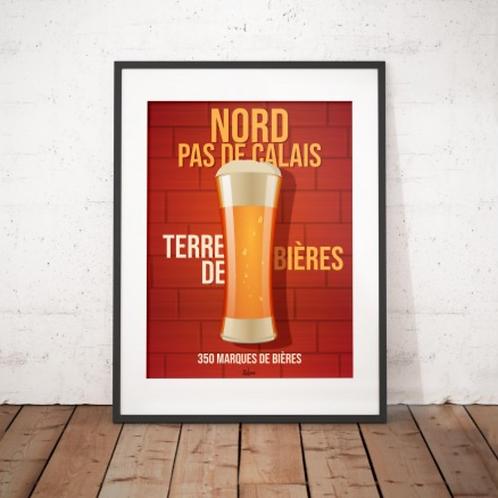 Affiche Wim' Nord Terre de Bières 30x40 cm