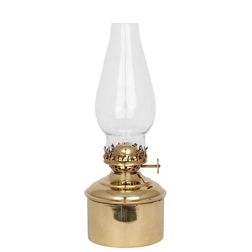 Lampe à huile dorée Vintage