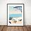 Thumbnail: Affiche West Coast 30x40 cm
