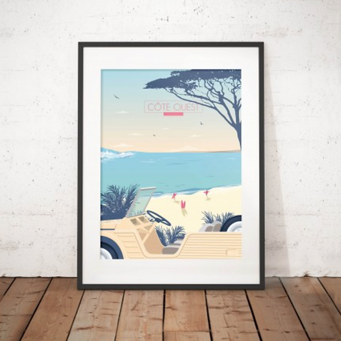 Affiche West Coast 30x40 cm