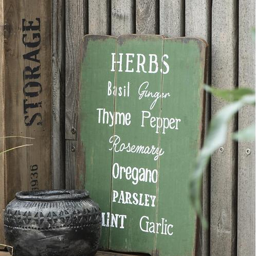 Plaque murale aromates