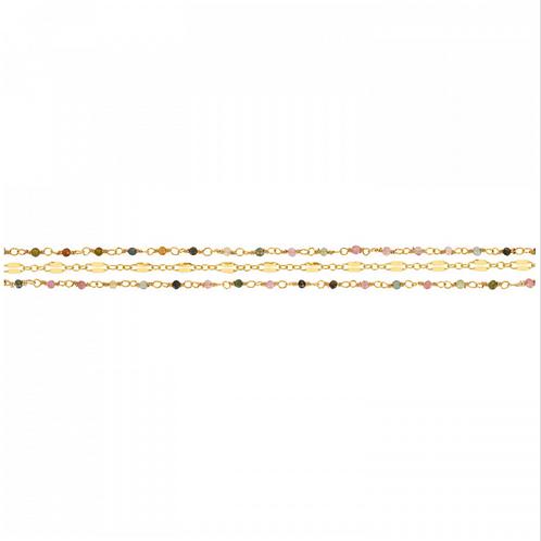 Bracelet Triple Tourmaline UNE A UNE