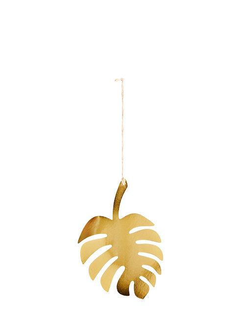 Feuille de palmier en métal doré MADAM STOLTZ