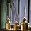 Thumbnail: Lampe à huile dorée Vintage