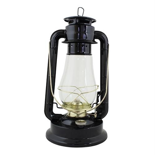 Grande lanterne à huile noire Vintage