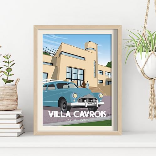 Affiche Sacrée Lilloise Villa Cavrois 1932 - 30 x 40 cm