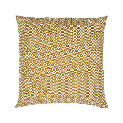 Coussin moutarde 50x50 cm
