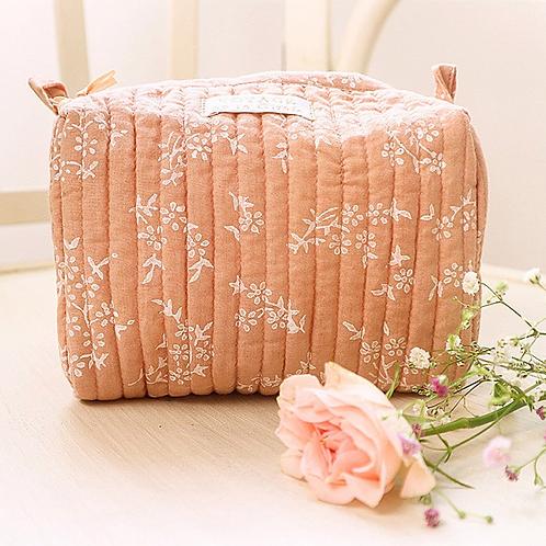 Trousse à maquillage rose VOYAGE BY LA GIRAFE