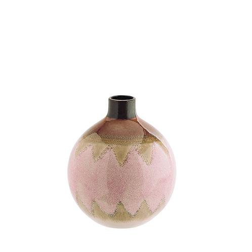 Vase en grés rose Madam Stoltz