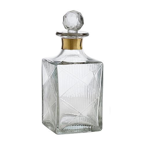 Carafe à décanter en verre transparent