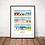 Thumbnail: Affiche Wim' Malo Cabines 30x40 cm