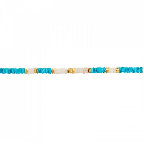 Bracelet Disque Turquoise UNE A UNE