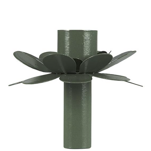 Bougeoir fleur 7 cm vert