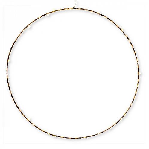 Cercle lumineux 60 LED métal (D.50cm)