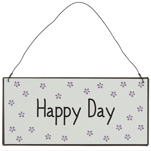 Plaque métallique Happy Day