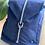 Thumbnail: Sac à dos bleu indigo MAISON JEANNE