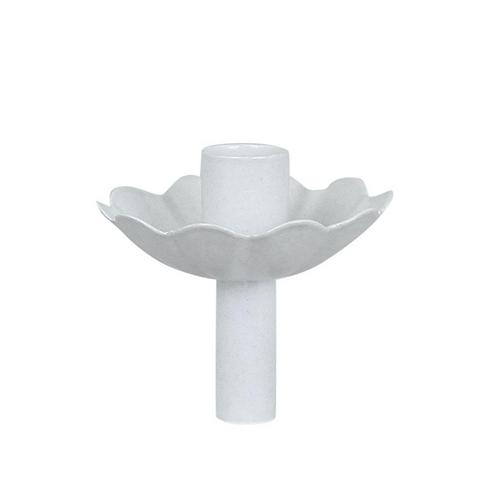 Bougeoir fleur blanc
