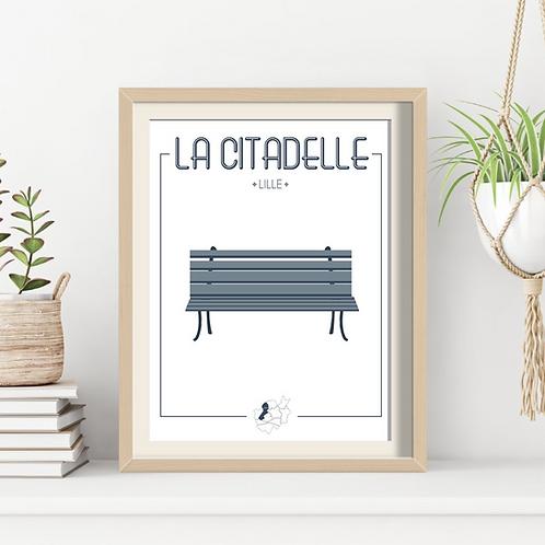 Affiche Sacrée Lilloise La Citadelle 30x40 cm