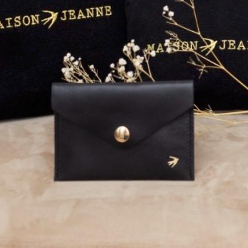 Porte cartes noir MAISON JEANNE