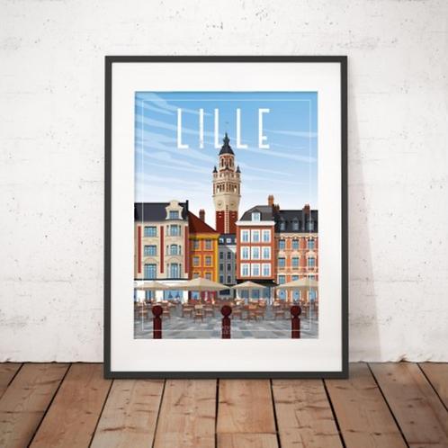 Affiche Sacrée Lilloise Grand Place Lille 30x40 cm
