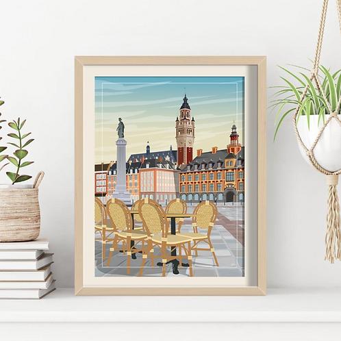 Affiche Sacrée Lilloise Grand Place Lille - 30 x 40 cm