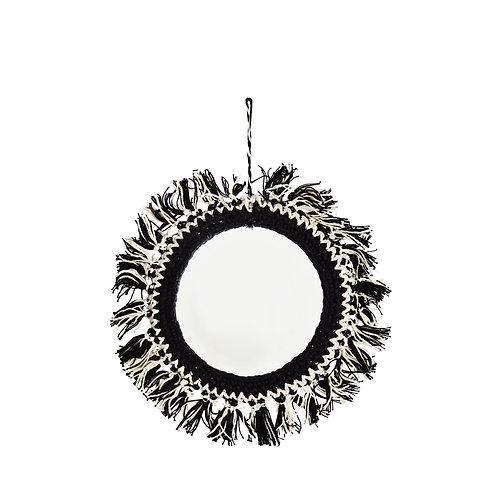 Petit miroir à franges noir MADAM STOLTZ