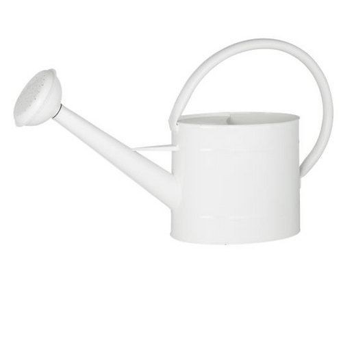 Arrosoir métallique blanc 5 litres