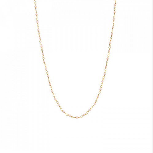 Collier Inde ronds Opale rose UNE A UNE