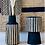Thumbnail: Vase en bois rayé noir et naturel