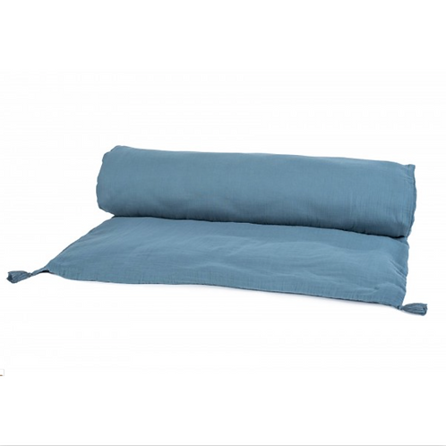 Edredon en voile de coton bleu de Prusse