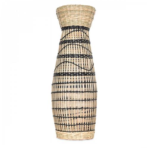 Vase en bambou et paille Hugo