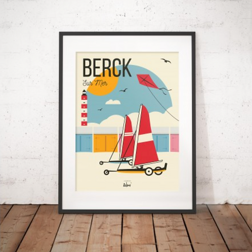 Affiche Wim' Berck Vintage 30x40 cm