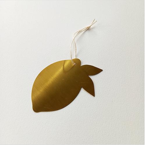Citron en métal doré POUSSIERE DES RUES