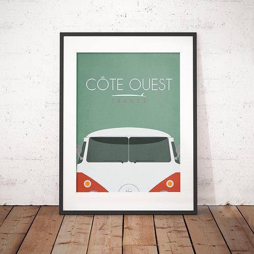 Affiche Wim' Van Côte Ouest 30x40 cm