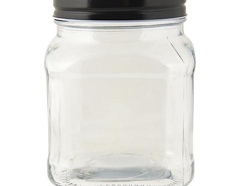 Pot en verre et couvercle métallique 700 ml