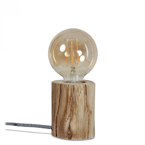 Lampe en bois d'eucalyptus