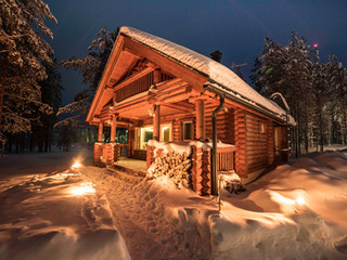 Chalet Castor by night