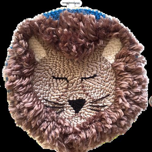 Tambour brodé Monsieur Lion