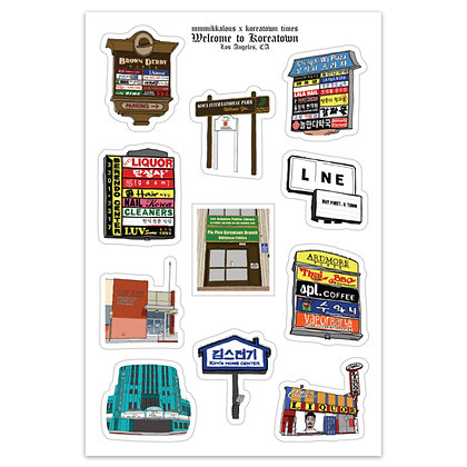 Koreatown Sticker Sheet