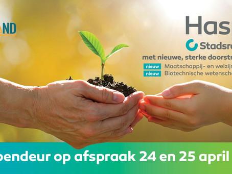 Hasp-O Stadsrand - Opendeur op afspraak 24 en 25 april.