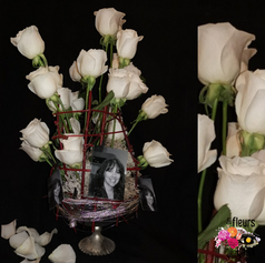 Composition roses blanche